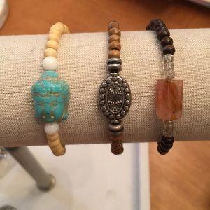 Jewelry - Wood Bead Bracelet Set